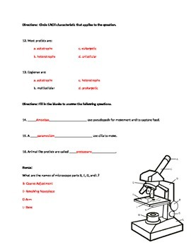 Protist Test