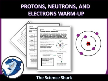 Protons, Neutrons, and Electrons Warm-up