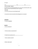 Protozoans Review Worksheet