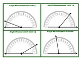 Protractor Angle Measurement Task Cards Beginner Geometry