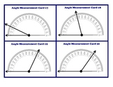 Protractor Angle Measurement Task Cards Geometry