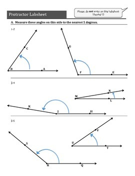 Protractor Angles! (An introduction to measureing angles with a protractor)