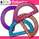 Rainbow Protractor Clip Art {Measurement Tools for Geometry and Math Centers}