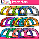 Rainbow Protractor Clip Art | Measurement Tools for Geometry and Math Centers