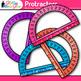 Rainbow Protractor Clip Art {Measurement Tools for Geometr