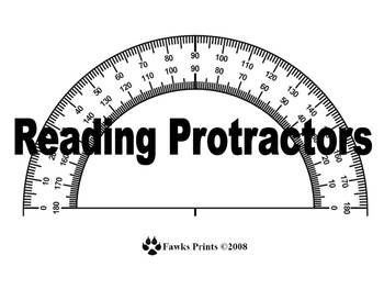 Protractor Flash Cards