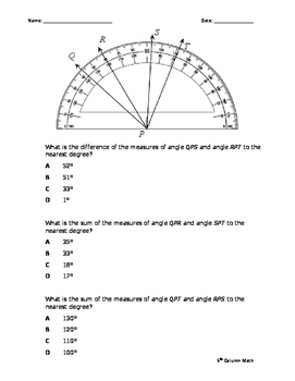 Protractor - Measuring Angles (Quiz)