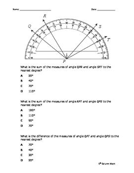 Protractor - Measuring Angles (Quiz)