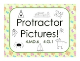 Protractor Picture Worksheets Measuring Angles