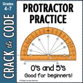 Protractor Practice 0s & 5s | Crack the Code Activity | Di