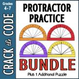 Protractor Practice | Crack the Code Activities BUNDLED |