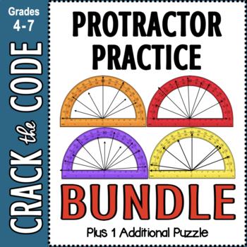 Protractor Practice Crack the Code Activities BUNDLED!