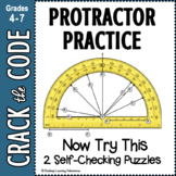 Protractor Practice- Now Try This! 2 Crack the Code Activities