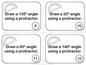 Protractor Practice Sets 3 & 4: Drawing Angles