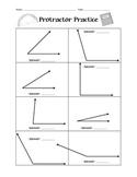 Protractor Practice Worksheet