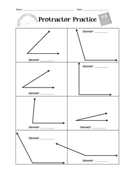 protractor practice worksheet by mighty in middle school tpt. Black Bedroom Furniture Sets. Home Design Ideas