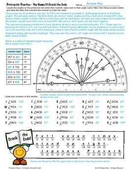Protractor Practice - You Name It! Crack the Code Activity