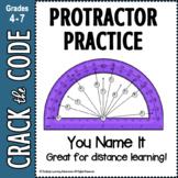 Protractor Practice | You Name It | Crack the Code Activit