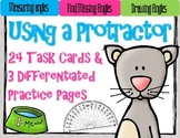 Protractor Practice and Measuring Angles: 24 Task Cards for Grades 3-5