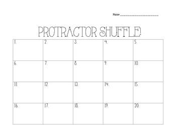 Protractor Shuffle