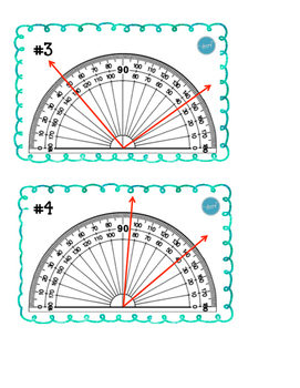 Protractor Task Cards (Calculating the Angle)
