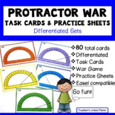 Protractor Games - War, Task Cards and Practice Sheets - D