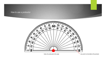 Protractor and Triangles
