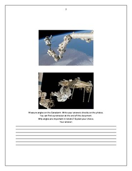 Protractor in Space