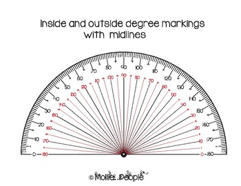 Protractors:  Understand and Practice Reading Them!