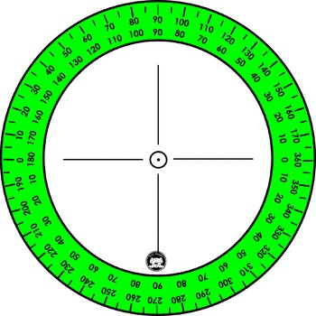 Protractors and 360 Degrees Protractors Clip Art