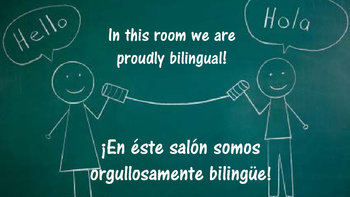Proud Bilingual Poster