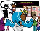 Proud Blue Clip Art Pack