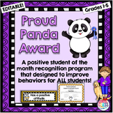 Student of the Month - Proud Panda Student Recognition Program