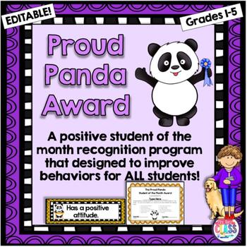 Proud Panda Student of the Month Award Recognition Program