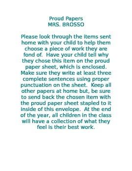 Proud Paper Letter