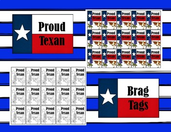 Proud Texan Brag Tags