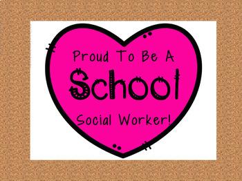 Proud to Be A School Social Worker Freebie
