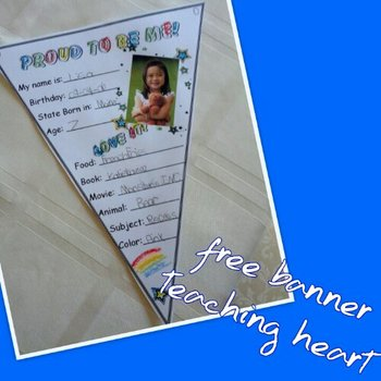 Proud To Be Me All About Me Banner For Back to School Free