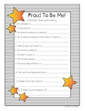Proud To Be Me - Beginning of the Year Activity
