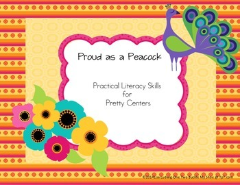 Proud as a Peacock-Literacy Activities CCSS aligned