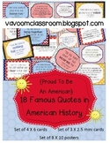 Proud to Be an American Famous Quotes in American History Posters
