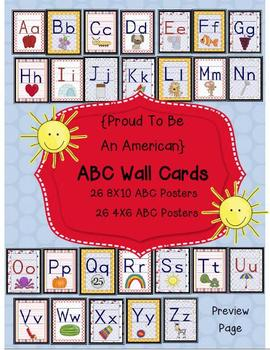 Proud to Be an American Kit ABC Chart Cards