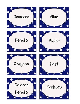 Proud to Be an American Kit Small Clasroom Labels