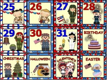 Proud to be American. Patriotic Calendar Set.