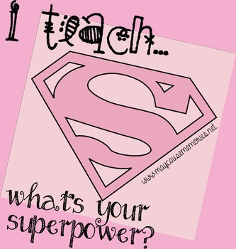 Proud to be a Teacher! - Superhero Printable Pink Poster!