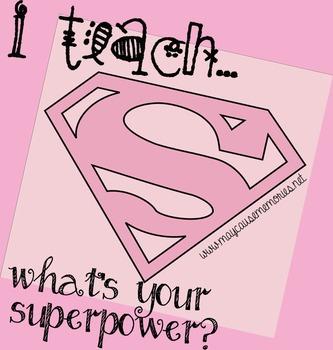 Proud to be a Teacher! - Superhero Printable Pink Poster!