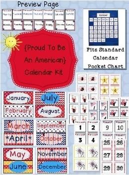 Proud to be an Amerian Calendar Kit