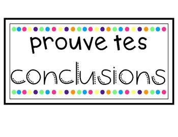 Prouve tes conclusions