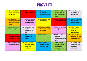 Prove It - Engaging Assessment Tool