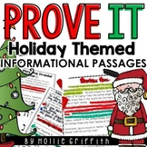 Prove It! Informational Text Passages: December Holidays
